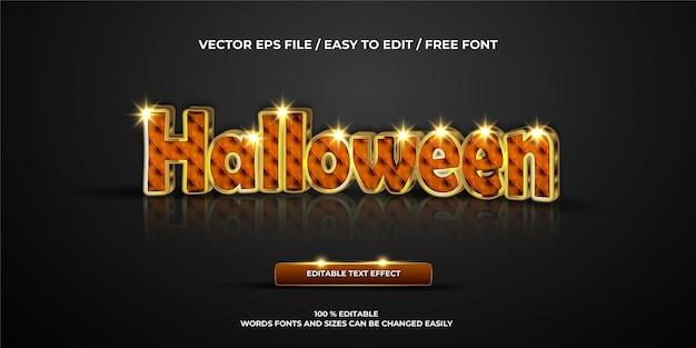 Efeito de texto editável de luxo no estilo de texto 3d de halloween