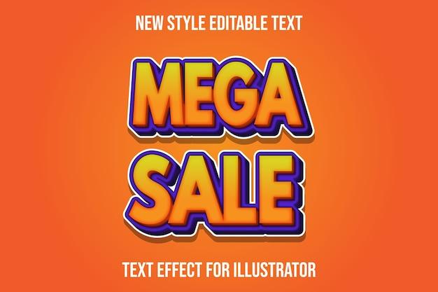 Efeito de texto editável de mega venda