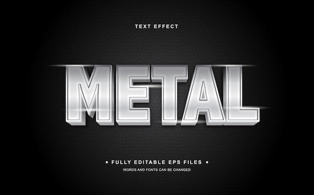 Efeito de texto editável de metal