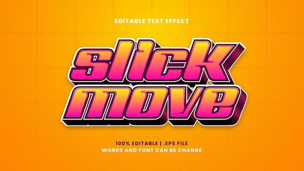 Efeito de texto editável de movimento rápido em estilo 3d moderno