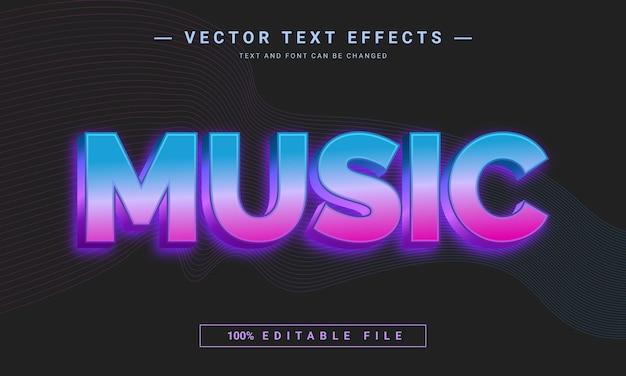 Efeito de texto editável de música