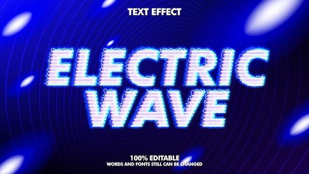Efeito de texto editável de onda elétrica