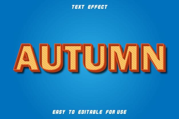 Efeito de texto editável de outono em relevo estilo retro