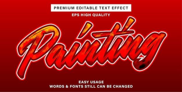 Efeito de texto editável de pintura