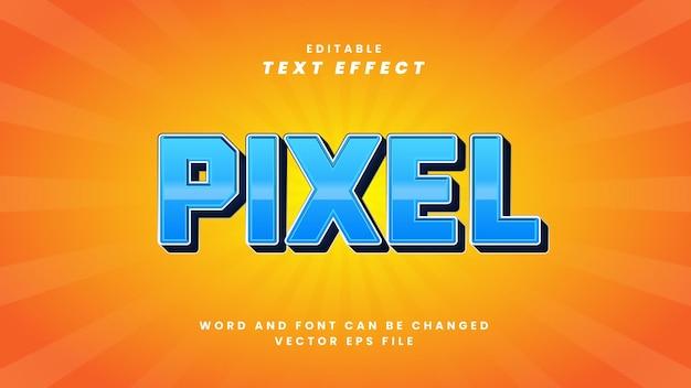 Efeito de texto editável de pixel