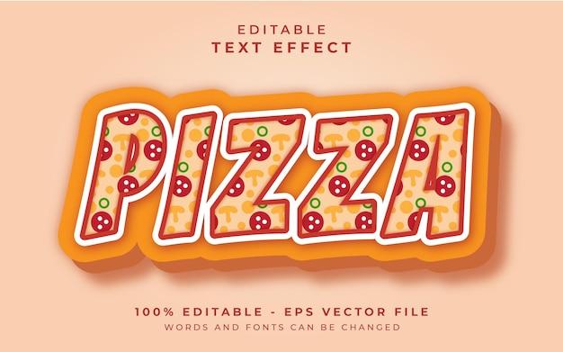 Efeito de texto editável de pizza