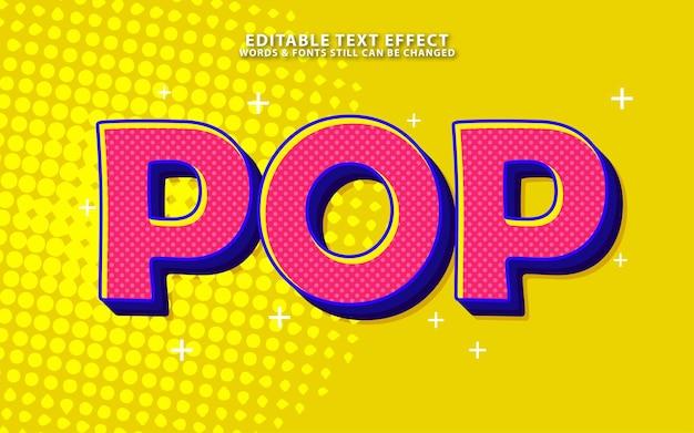 Efeito de texto editável de pop art