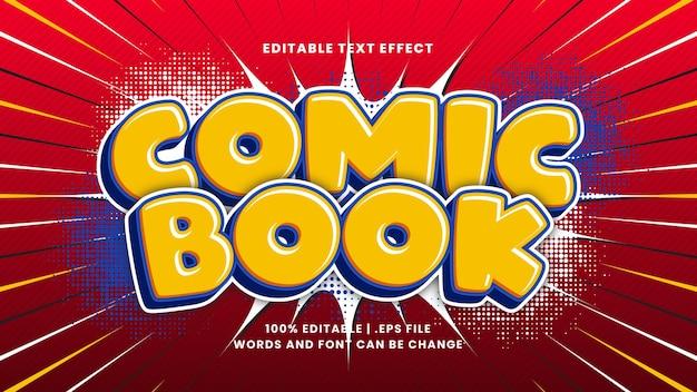 Efeito de texto editável de quadrinhos com estilo de desenho animado