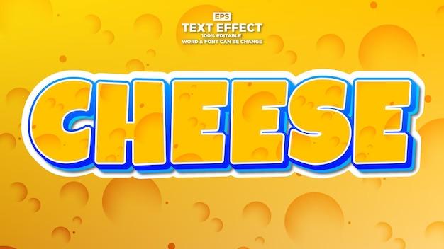 Efeito de texto editável de queijo para o título da marca