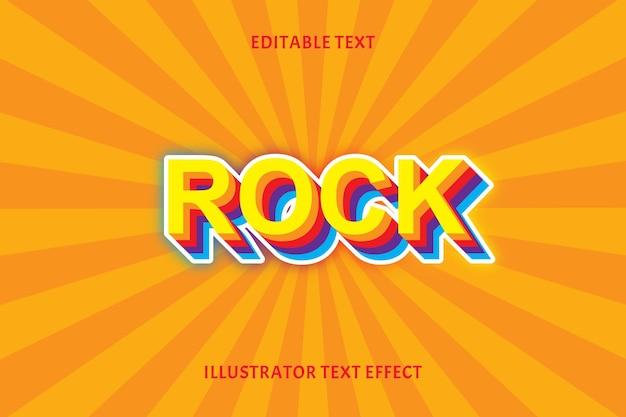 Efeito de texto editável de rock