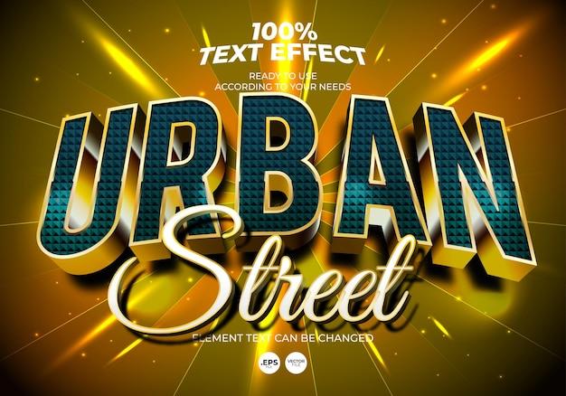 Efeito de texto editável de rua urbana