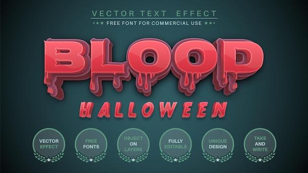 Efeito de texto editável de sangue