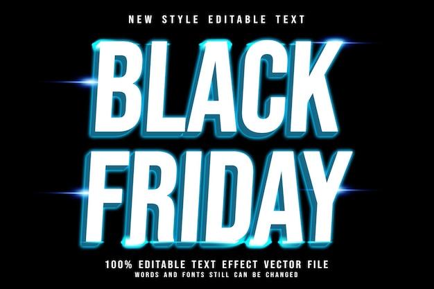 Efeito de texto editável de sexta-feira negra em estilo neon em relevo