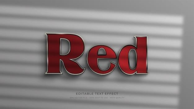Efeito de texto editável de sinalização vermelha