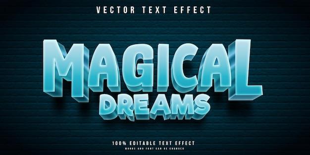 Efeito de texto editável de sonhos mágicos