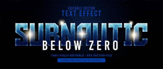 Efeito de texto editável de super-herói moderno e subnáutico, perfeito para títulos de filmes ou jogos
