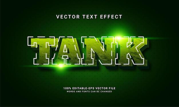 Efeito de texto editável de tanque com tema militar