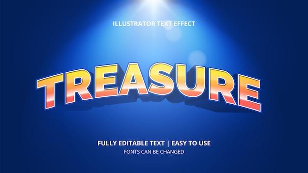 Efeito de texto editável de tesouro