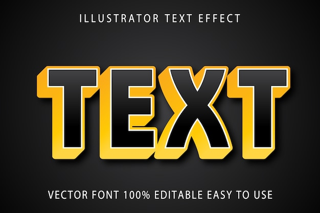 Efeito de texto editável de texto