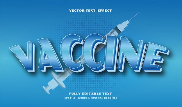 Efeito de texto editável de vacina