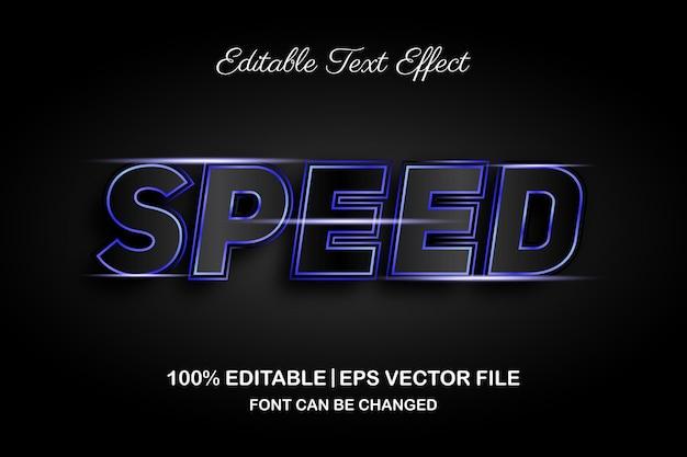 Efeito de texto editável de velocidade 3d