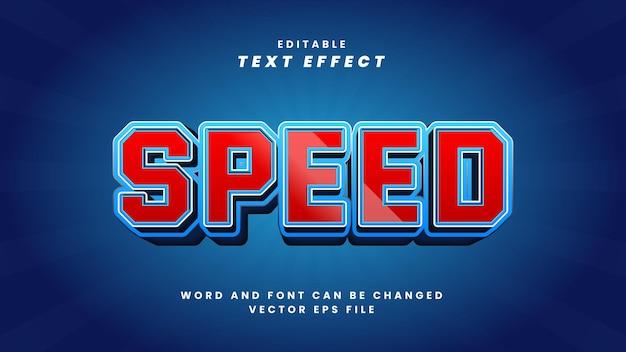 Efeito de texto editável de velocidade