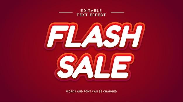 Efeito de texto editável de venda em flash estilo negrito de velocidade