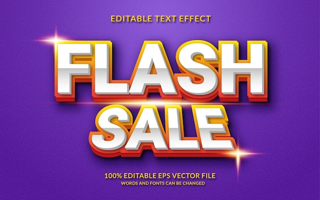 Efeito de texto editável de venda em flash