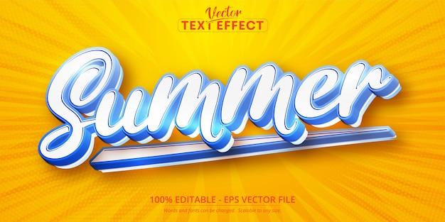 Efeito de texto editável de verão