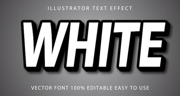 Efeito de texto editável de vetor branco