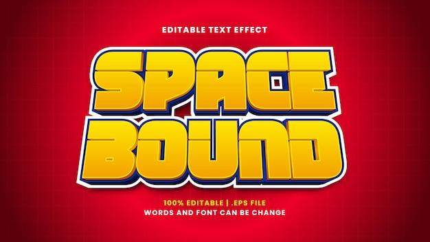 Efeito de texto editável delimitado por espaço em estilo 3d moderno