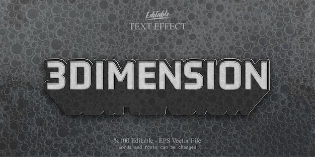 Efeito de texto editável dimension
