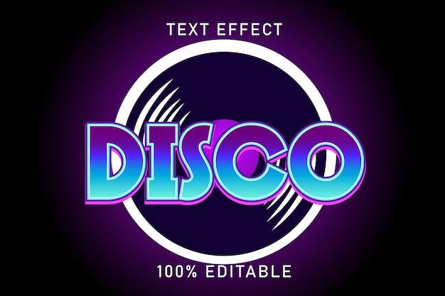 Efeito de texto editável disco