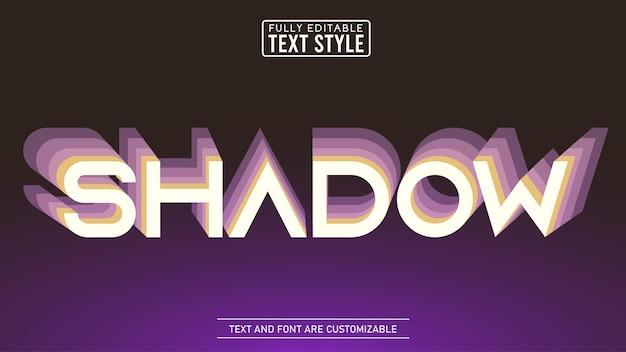 Efeito de texto editável do abstrato do gradiente de sombra