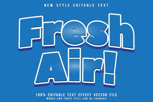 Efeito de texto editável do ar fresco em relevo estilo moderno
