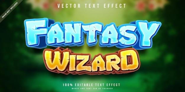 Efeito de texto editável do assistente fantasy