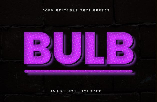 Efeito de texto editável do bulbo