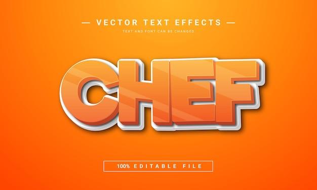 Efeito de texto editável do chef