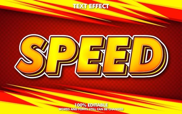 Efeito de texto editável do conceito de corrida