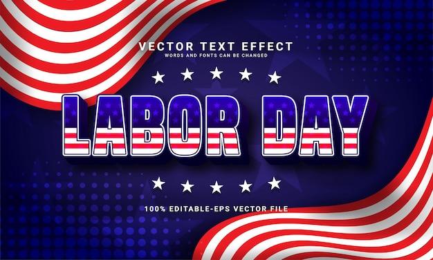 Efeito de texto editável do dia do trabalho com o tema celebração do dia do trabalho