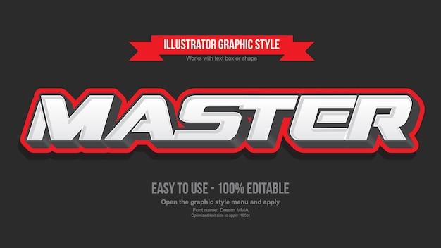 Efeito de texto editável do emblema de jogos 3d moderno