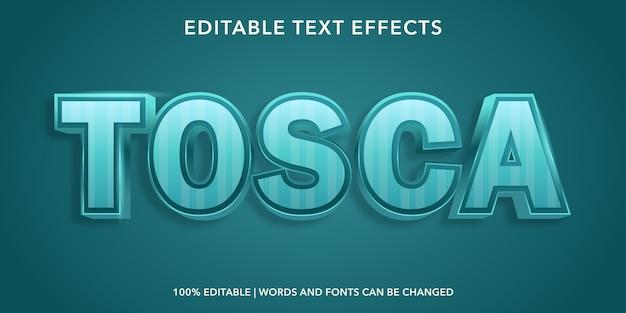 Efeito de texto editável do estilo 3d tosca