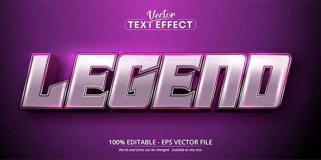 Efeito de texto editável do estilo de desenho animado do texto da legenda