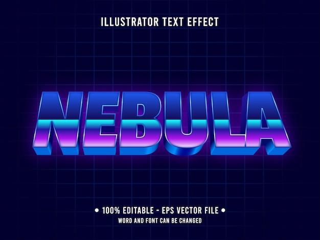 Efeito de texto editável do futurismo retrô dos anos 80