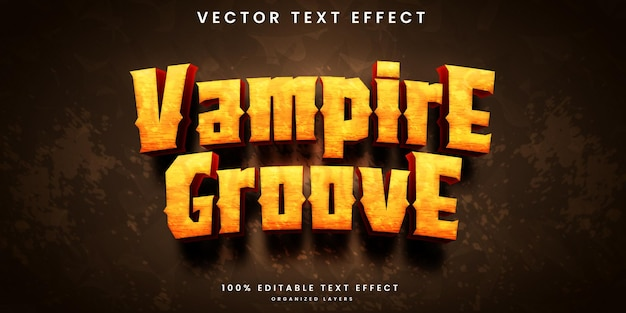 Efeito de texto editável do groove de vampiro