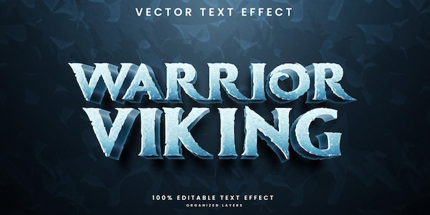 Efeito de texto editável do guerreiro viking