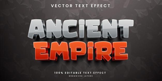 Efeito de texto editável do império antigo
