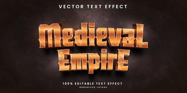 Efeito de texto editável do império medival