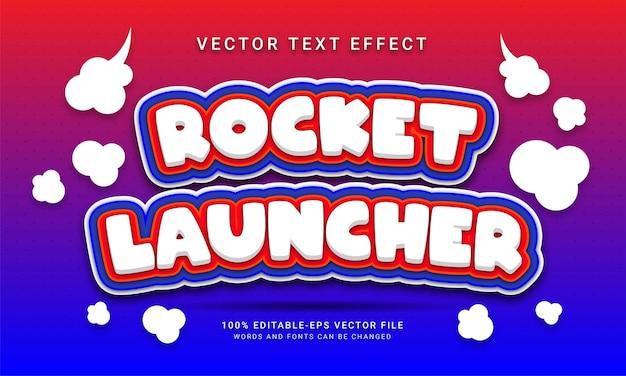Efeito de texto editável do lançador de foguetes