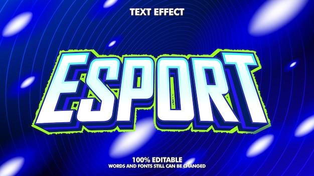 Efeito de texto editável do logotipo esport